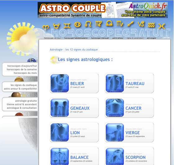 l horoscope gratuit guide astrologique. Black Bedroom Furniture Sets. Home Design Ideas